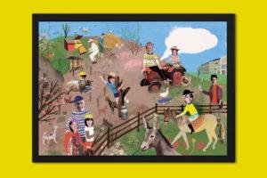 Personalisiertes Poster Bauernhof Rahmen